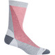 Icebreaker LifeStyle Fine Gauge UL Crew Leaning Ladders Socks blizzard hthr/monsoon/poppy red